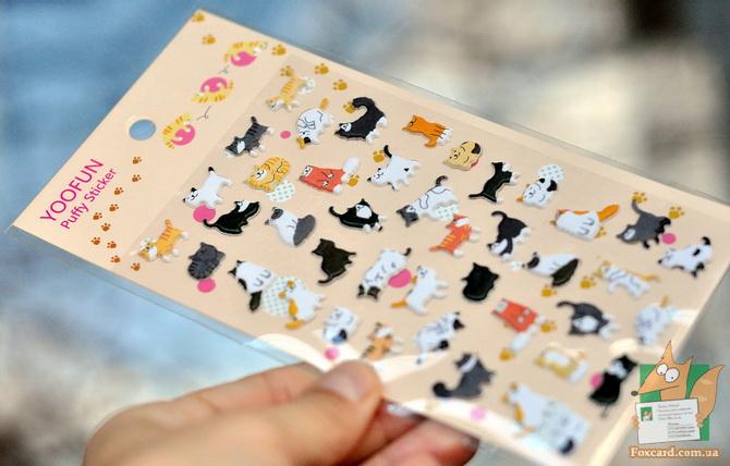 Набор дутых наклеек с кошками от фирмы YOOFUN