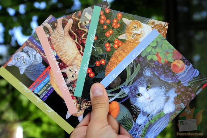 Почтовые карточки: Коты