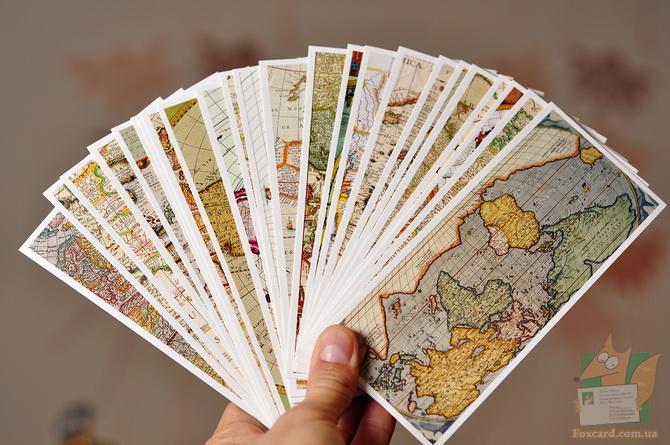 Закладки в виде географических карт