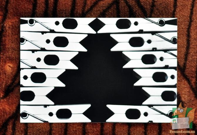 Ёлка из бельевых прищепок - почтовая открытка